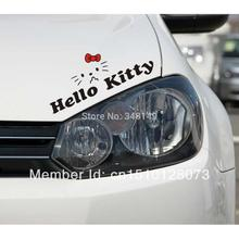 Funny Hello Kitty Car Stickers and Decal Reflective for Toyota Ford Focus Chevrolet Cruze Volkswagen Honda Hyundai Kia Lada(China)