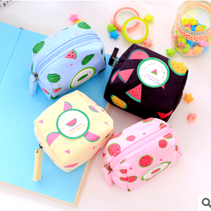 QOONG Cute small Children Kids 3D square watermelon Coin Purses Holders Change Money Bag Pouch Girls Wallet Coin Case CA1-008<br><br>Aliexpress