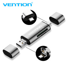 Vention USB 2.0 Micro USB SD Card Reader Micro SD TF OTG Card Reader Type C USB 3.1 reader Adapter(China)