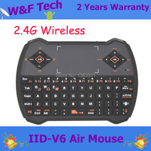 Fashion V6 fly air mouse Keyboard + Touchpad + Air Mouse + Audio Chat 2.4Ghz wireless keyboard used for PS3/PC/TV
