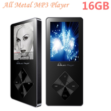 All Aluminum Alloy MP3 Player 16GB 1.8 Inch Screen High Quality Lossless Speaker Music Player FM Radio Recording Free Shippping(China)