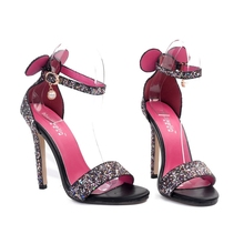 BOUSSAC 2017 new products fast selling, foreign trade, European and American simple word buckle sandals, elegant heel heel shoe(China)