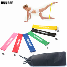 KUUBEE Resistance loop Bands 6 Levels Fitness Stretching Yoga Pull Rope Crossfit For Body Ankle Leg Exercise Training