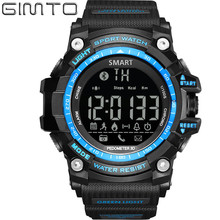 Men Smart Watches Chronograph Watch 2017 New GIMTO Top Brand  LED  Digital Sport Wristwatches 50M Waterproof Multi-function Saat