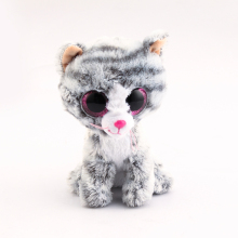 Ty Beanie Boos Original Big Eyes Plush Toy Doll Child Brithday 10 - 15cm Gray Cat TY Baby For Kids Gifts