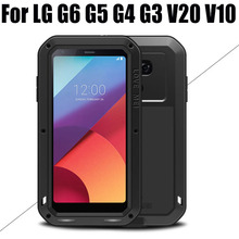 Cover For LG G6 G5 G4 G3 V20 V10 Original Lovemei Aluminum Metal + Gorilla Glass Shock Drop Waterproof case for LG G6 LG601(China)