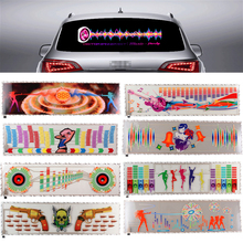 90*25CM Multi-selective Car Styling Sticker Music Rhythm LED EL Cold Flash Light Sound Equalizer Lamp
