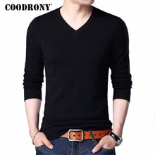COODRONY Sweater Men 2017 Autumn Winter Plus Size Knitwear Multicolor V-Neck Pull Homme Cashmere Pullover Men Wool Sweaters 7186(China)