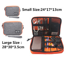 Waterproof Double Layer Cable Storage Bag Electronic Organizer Gadget Travel Bag USB Earphone Case Gigital Organizador IC876982
