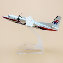 16cm Metal Plane Model Air Malaysia Airlines Fokker  F-50 F50 9M-MGC Airways Airplane Model w Stand Aircraft  Gift