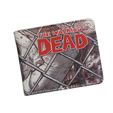 American Movie Cartoon Wallets THE WALKING DEAD Wallet Vintage Funny Printing Leather Purse ID Card Holder Men's Comics Wallet