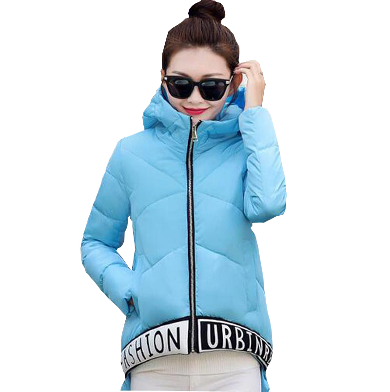 2017 new autumn winter wadded jacket female down coat fashion short a-line women jacket parkas hooded letter pattern coat kp0838Одежда и ак�е��уары<br><br><br>Aliexpress