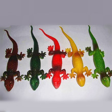 Wholesale Funny novelty items Simulation spoofing gecko prank supplies jake toy lizard gag gifts kids toys 5 pcs(China)