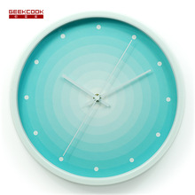 12 inch Leisure Black/Silver/White/Red Reloj De Pared Deep Sea Light Brief Style Decorated Silent Metal Hanging Wall Clock Gift