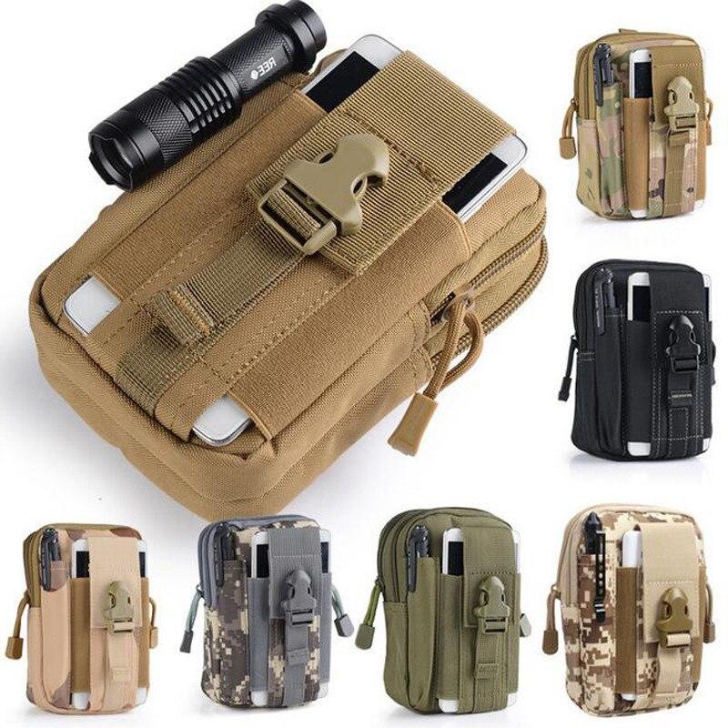Men Outdoor Leisure Tactical Camo Belt Loop Bag Waist Pouch Cell Phone Key Bag