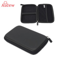 GPS Holder 7 Inch PU Hard Shell Leather Carry Bag Case Cover Pouch Sat Nav Navigation Gps Bag Earphone For Phone(China)