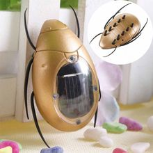 Creative ABS Cockchafer Insect Shaped Solar Power Toy Kids Educational Toy Trick-playing Toy(China)