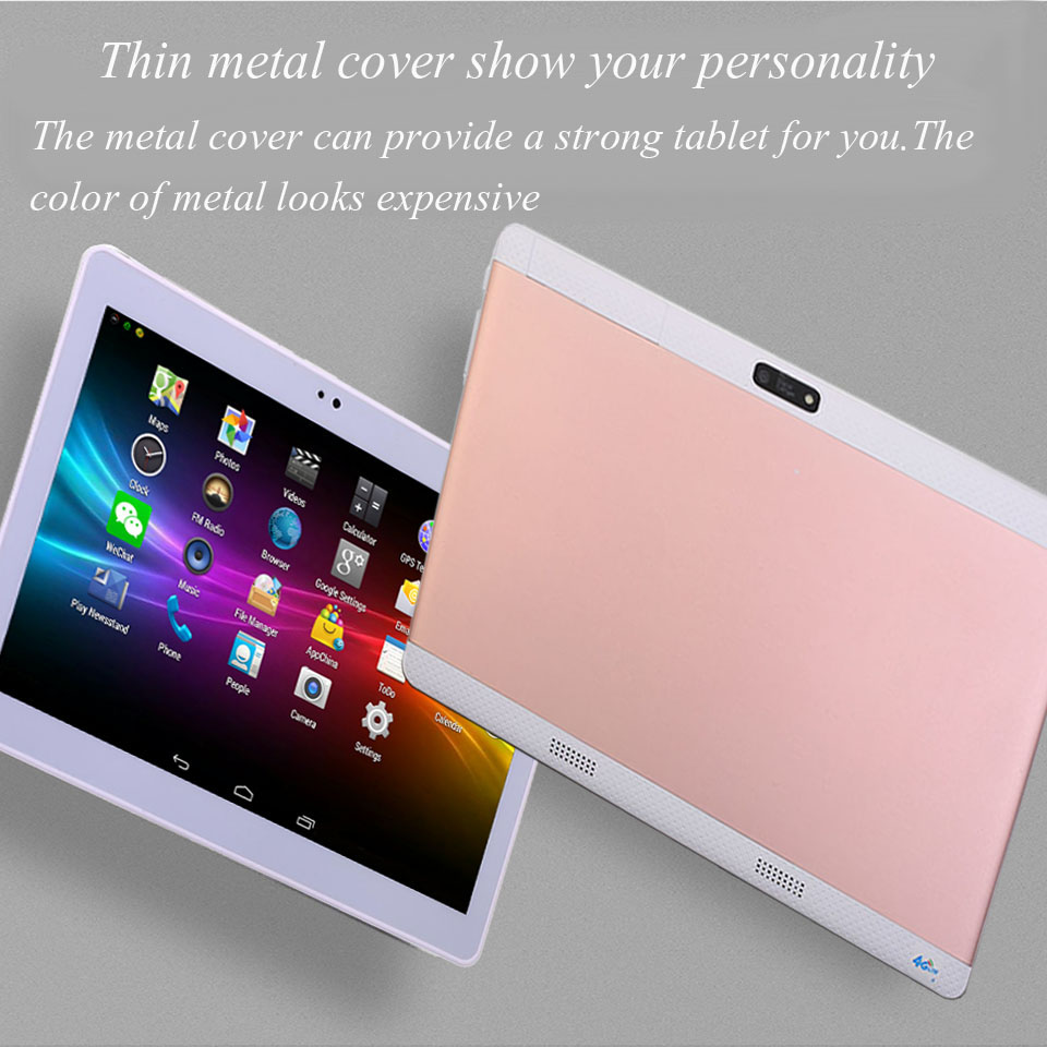 2017 new 10 inch Tablet Android Tablet PC Octa/10 Core 4G Tablet pcs 64GB ROM phone call tablet WIFI GPS Metal cover bluetooth
