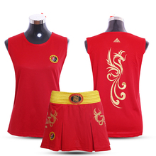 Red/Blue Kids Girls/Adults Women Boxing Outfits Sanda Uniforms MMA Muay Thai Shorts+Tshirts Tops Boxe Trunks Uniforms 2017 CO(China)