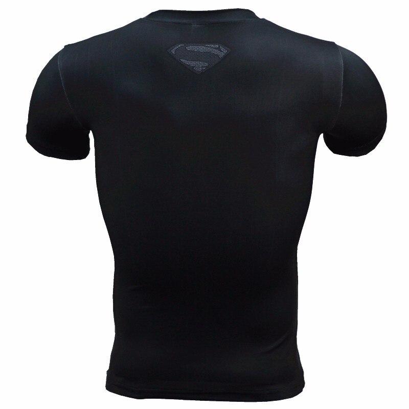 2017 Compression Shirt Anime Superhero Punisher Captain America Superman 3D T Shirt Fitness Tights Base Layer T Shirts