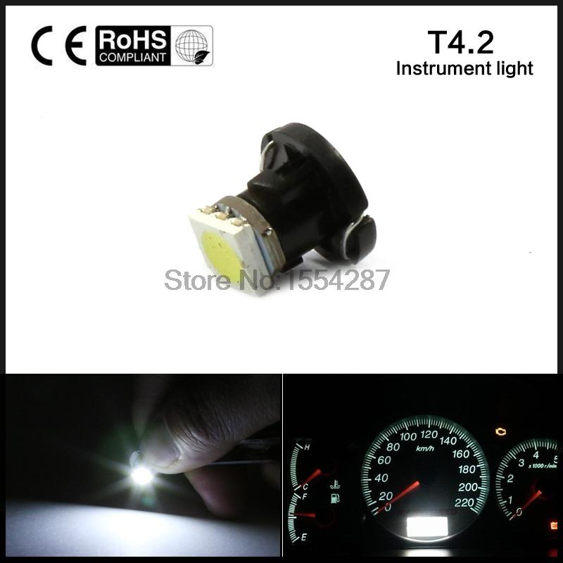 10X T4.2 LED 5050 SMD Car Board Instrument Panel Bulb lamp DC 12V White / Red / Blue / Green / Yellow instruments Light bulbs<br><br>Aliexpress
