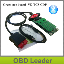Double Green PCB vd tcs cdp pro with Bluetooth 2014R3 2015.3 keygen for cars trucks obd2 diagnostic tool as wow snooper(China)