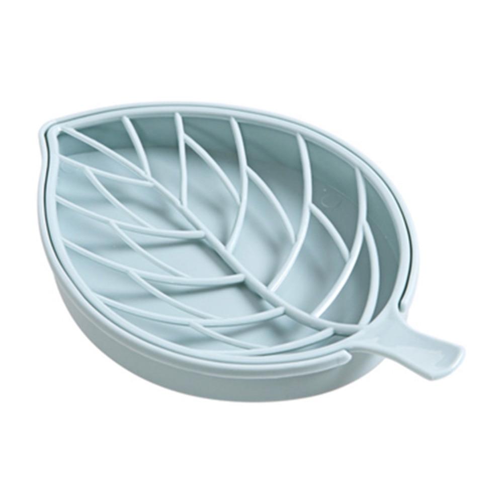Draining Accessories Plastic Soap Dish 3D Flower-shaped Bathroom Holder Tray