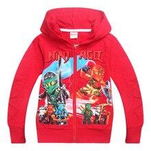 girls cardigans spring autumn children cotton hoodies clothes boys long sleeve Ninjago Coat Outwear kids clothing