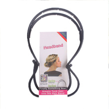 1PC New Elegance Diy Hair Tools Maker Double Hair Bands Women Black Headbands Magica Style Hairbands Hair Accessories For Girls