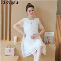 2018 Fashion Splice Sleeveless Chiffon Maternity Dresses for Pregnant Women Summer Maternity Clothes for Pregnancy Dress A733