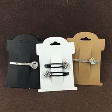 200PCS/Lot 11*8cm Free Shipping Jewelry Kraft Hair Clip Paper Card Jewelry new Cards Accept custom logo