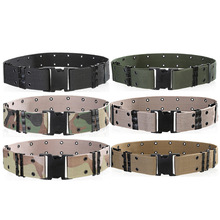 Quality canvas men belts Insert Buckles Belts Army Tactics design mens belt fahion style male strap outdoor activities 130cm B62(China)