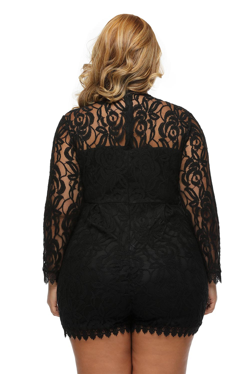 Black-Plus-Size-Long-Sleeve-Lace-Romper-LC60599-2-57321