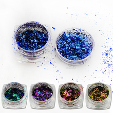 Hot Fashion 1Box Irregular Chameleon Flake Magic Effect Sparkly Nail Glitter Powder DIY Decoration Dust Gel Manicure BEBS01-06