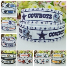 "DUWES 7/8"" 22mm football Sports team Printed grosgrain ribbon hairbow party decoration DIY handmade wholesale OEM 50YD(China)"