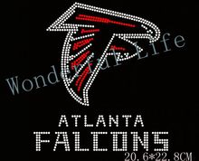Wonderful Life shipping free bis size eagle for sport team name atalanta falcons rhinestones transfer design