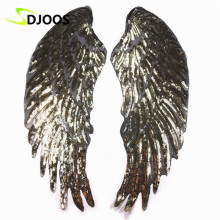 Angel Wings Embroidered Sequined Patches for Clothing Logo Biker Motorcycle Cartoon Iron on Patch for Clothes Tops Jeans Jackets