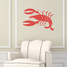 Lobster Wall Stickers Animal Sea Food Wall Decals Cafe Kitchen Restaurant Home Interior Design Art Mural Kids Room Decor