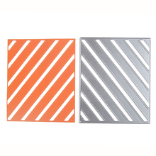 diagonal stripy background metal Dies cutting decoration album Scrapbooking Craft Die Cut Stamp DIY Embossing paper Card Stencil(China)