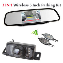 Wireless Adapter 5'' LCD TFT Mirror Monitor +  7 infrared Night Vision Rear View Camera Waterproof Backup Reverse camera Parking