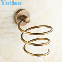 Free shipping 1pc Solid & Anti-rust brass Hair dryer holder Hair dryer rack stand rack shelf YT-8205(China)
