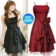 Free shipping women's sexy night club cocktail party pinafore Chiffon halter Dress Color Red Rose Green Black Purple WTS031(China)