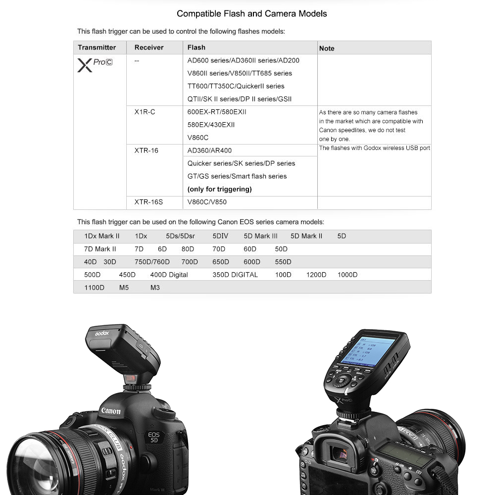 Pre-Sale New Arrival Godox E-TTL II 2.4G Wireless X system High-speed with Big LCD Screen Transmitter Xpro-C For Canon (51)