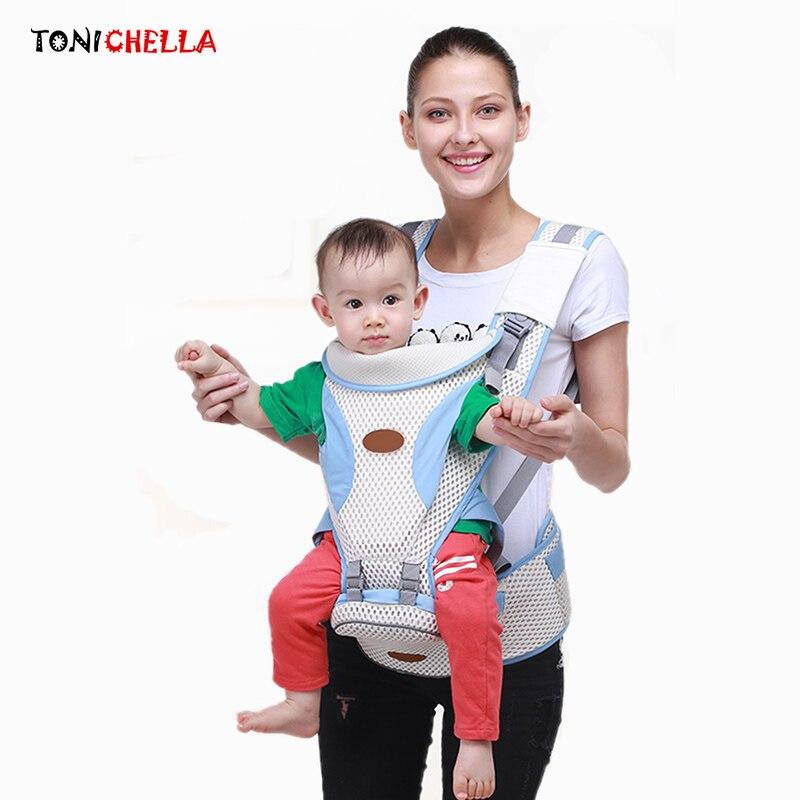 Breathable Baby Carrier Ergonomic Sling Adjustable Comfortable Infant Newborn Backpacks Hip Seat Kangaroo Warp Carriers BB3032<br>
