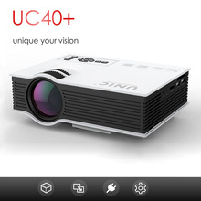 Office and home use projector beamer UC40/UC40+ led lcd full HD 1080P 3D with HDMI/VGA/SD/USB/AV kids toys holiday present gifts