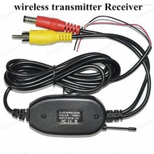 Best Selling Parking Car Wireless rear camera reverse Car DVD backup RCA Video transmitter Receiver kit  Free Shipping