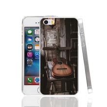 27352 Old Guitar On Chair Cover cell phone Case for iPhone 4 4S 5 5S SE 5C 6 6S 7 Plus