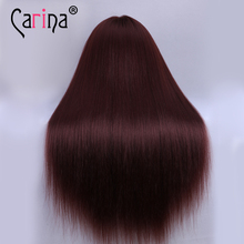 "24"" 100% High Temperature Fiber Long Hair Hairdressing Training Head Model with Clamp Stand Practice Mannequin Head Hair(China)"