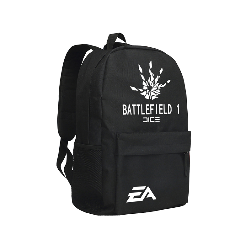 Zshop Game Battlefield Backpacks Cool Man Shoulder Bags Rucksack Oxford Black Mochila Sac Boys Teenagers Backpack Schoolbag<br>