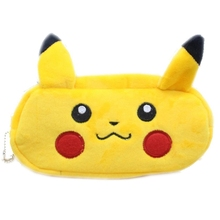 Kawaii Pokemon Go Pikaqiu Plush Cartoon Pencil Case Stationery Large Pencil Box Bag School Supplie Stationery Bag(China)